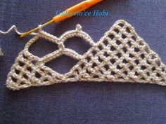 HOBİ DÜNYASI: gelin şalı netten alıntı. Crochet Lace Scarf, Crochet Scarves, Crochet Stitches, Crochet Top, Hairpin Lace, Burlap Crafts, Tree Branches, Hair Pins, Crochet Earrings