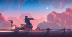 Clouds Illustrations by Aaron Campbell