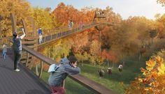 Картинки по запросу пешеходный мост над парком