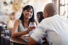 Letöltés - Férfi és nő, randi és étterem — Stock Kép #9305286