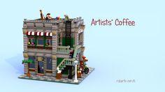 LEGO Ideas - Artists' Coffee - Modular