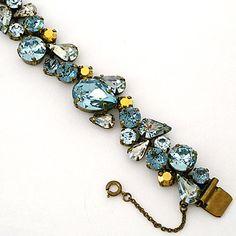 Crystal Teardrop Statement Bracelet ~ Sorrelli Afterglow Collection.