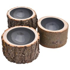 The log bowls combine the rustic beauty of trees in their natural state with a dark grey coloured high gloss finish. Each bowl is handmade, one-of-a-kind using different tree varieties from Alberta in Canada. The logs are from locally reclaimed wood, hand-selected, then dried for 4-6 months, turned and finished with furniture-grade acrylic paint. The Loyal Loot Collective of Canadian artists and craftsmen are the ones who came up with this charming idea, which was widely copied but never…