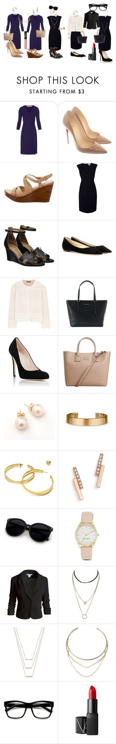 """Dress Combos"" by jackie-thompson-nesbit on Polyvore featuring Diane Von Furstenberg, Christian Louboutin, Miu Miu, Rebecca Taylor, Jimmy Choo, Alexander McQueen, Dana Buchman, Barneys New York, MANGO and Le Gramme"