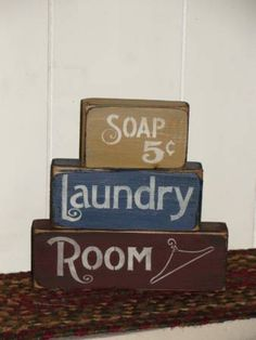 Primitive Laundry Stacking Blocks