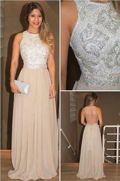 Charming Prom Dress,Chiffon Prom Dress,Long Prom Dresses,Beading Prom