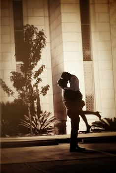 LDS Temple Wedding . . . in the light of the Temple