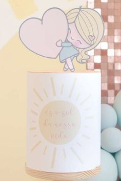 Check out this cute sunshine-themed birthday party! Love the birthday cake! See more party ideas and share yours at CatchMyParty.com