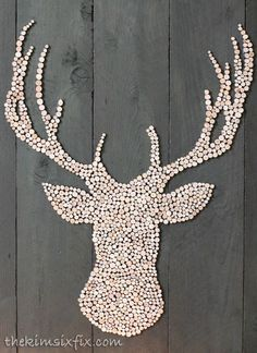 wood slice stag s head silhouette, christmas decorations, crafts, fireplaces mantels, pallet, repurposing upcycling, seasonal holiday decor