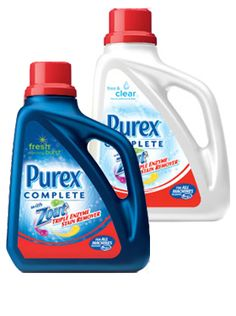 Purex Complete with Zout liquid detergent: A powerful detergent and stain-fighting pretreater in one. #mypurexfavorites
