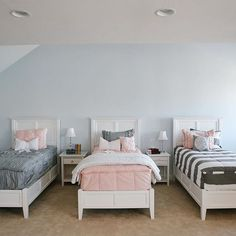 How about a little mix and match with gray and pink?  ZIPPER bedding has never looked so good!  www.beddys.com