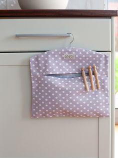 Ochre & Ocre Organic Cotton Peg Bag - Madelaine Lavender: Madelaine Lavender