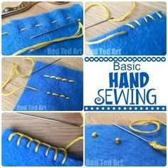 Diy Sewing Projects A practical guide to the most commonly used Basic Hand Stitches - A fantastic guide to the Basic Hand Stitches for Beginners.If you are learning to sew or teaching someone to sew,this is an excellent guide to sewing basics Sewing Class, Sewing Basics, Sewing Hacks, Sewing Tutorials, Sewing Tips, Basic Sewing, Sewing Art, Sewing Lessons, Dress Tutorials