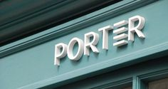 The Porter – Mytton Williams - signage Shop Signage, Storefront Signage, Signage Board, Company Signage, Signage Display, Retail Signage, Wayfinding Signage, Signage Design, Environmental Graphic Design