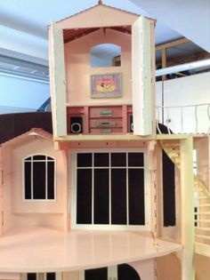 Doll Houses Barbie Dream 3 Story House Elevator Bathroom Sounds Movement Brand | eBay