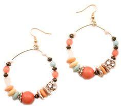 "Cercei ""Summer fiesta"" - Meli Melo - Paris Meli Melo, Beaded Bracelets, Paris, Summer, Collection, Jewelry, Montmartre Paris, Summer Time, Jewlery"