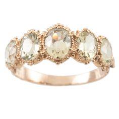 Chryslite 5 stone ring