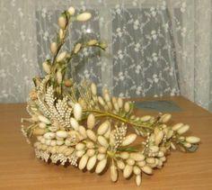 Magnifico-frances-antiguo-Cera-Flor-Boda-Tiara-Tocado Wedding Headpiece Vintage, Vintage Bridal, Wedding Veils, Wax Flowers, Bride Flowers, Wedding Flowers, Bridal Crown, Bridal Tiara, Antique Wax