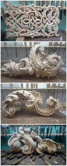 ideas carved wood sculpture woodcarving beautiful for 2019 Plaster Art, Carving Designs, Rococo Style, Motif Floral, Architectural Elements, Wood Sculpture, Baroque Sculpture, Wood Design, Design Art