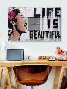 I love this, just not sure where I would put it...  Life Is Beautiful by iCanvasART at Gilt