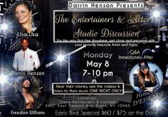 All the best Darrin Henson. BLESS @iamdarrindhenson �� Repost: A new twist in entertainment #Entertainers and #actors studio discussion . Come party with us may 8th in NYC. 2for 1 until may 1st. Click link in my bio to get your tkt.  Clink the link in my bio to join us may 8th in NYC  2for1 until may 1st  buy your tkts now  with @lisalisall77  @freedomwilliams  and myself.  #taurusseason #taurus  #party #girlsnight #bdayweekend. @msdessence1  will be hosting as well #celebrity friends will…