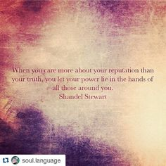 #Repost @soul.language with @repostapp Your reputation is simply the you that others have decided based on your words actions and general superficiality. Therefor it is not really the real you it is just others perceptions of you. Not to say those perceptions are not true but it also doesn't mean that they are. It's irrelevant really. For example I am a very passionate person and have no issues speaking my mind and defending truth. Someone might perceive this as a negative trait based on…