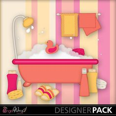 Digital Scrapbooking Kits | Bubble Bath Clip Art-(AWS) | Everyday | MyMemories