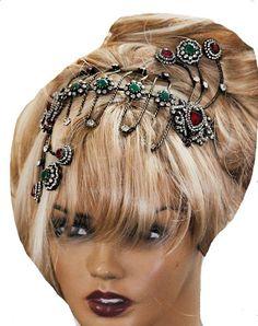 Bridal Crown in  Handmade Ottoman Style by VirjinyaCVDesign