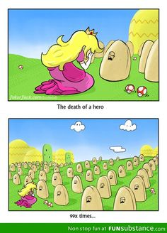Princess Peach weeps for the fallen by Rosalhymn on DeviantArt Video Game Memes, Video Games Funny, Funny Games, Mario Funny, Mario Memes, Super Mario Brothers, Super Mario Bros, Nintendo Game, Princesa Peach