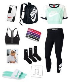 """NIKE✔️"" by hbpags on Polyvore featuring NIKE"