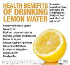 List Of The Benefits Of Lemon Water