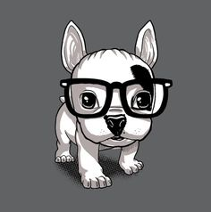 frenchie does geeky hipster (I actually have these glasses!)