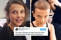 "Millie Bobby Brown Has Called Shaving Her Hair Off The ""Most Empowering Moment"" Of Her Life ""As I looked in the mirror I realized I had one job to do. Stranger Things Have Happened, Stranger Things Season 3, Stranger Things Funny, Stranger Things Netflix, Hopper Stranger Things, Twitter Quotes Funny, Funny Quotes, Funny Memes, Shave My Head"