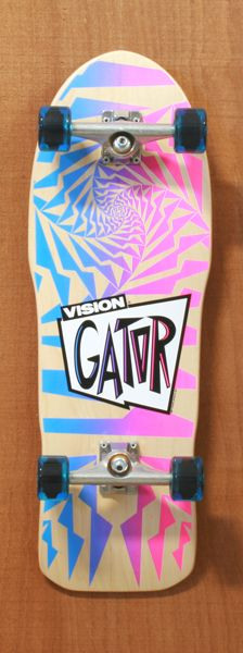 """Vision 30"""" Gator Natural Longboard Complete  http://www.thelongboardstore.com/longboards/old-school/30-gator-natural-complete/"""