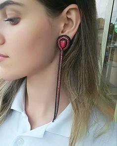 17 Outstanding Styles To Wear Beaded Tassel Earrings Beaded Tassel Earrings, Soutache Jewelry, Black Earrings, Unique Earrings, Thread Jewellery, Diy Necklace, Necklace Ideas, Jewelry Accessories, Handmade Jewelry