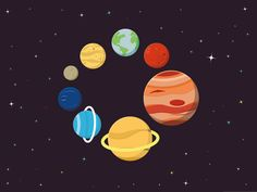 Flat Vector Planets