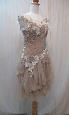 Custom Made One of A Kind Fairy Wedding Dress - Tulle Slant Asymmetrical by Madabby, $178.00