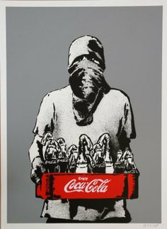 Molotov (grey burnt), by Icy and Sot. ICY (born and SOT (born are artists from Tabriz, Iran, currently residing in Brooklyn, New Y. Arte Punk, Banksy Graffiti, Urban Graffiti, Propaganda Art, Protest Art, Stencil Art, Print Artist, Urban Art, Black Art
