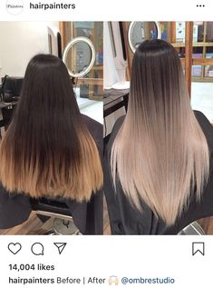 I just liked the result haircut - All For New Hairstyles Silver Blonde Hair, Blonde Hair Looks, Hair Color For Black Hair, Brunette Hair, Dark Hair, Brown Hair Balayage, Hair Color Balayage, Hair Highlights, Ombre Hair