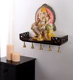 Check these amazing pooja shelf designs. You can either get them made by your local carpenter or buy ready made ones. They come in many sizes and designs. Decor, Pooja Room Design, Room Design, Pooja Rooms, Temple Design For Home, Home Decor, Room Door Design, Shelf Design, Pooja Room Door Design