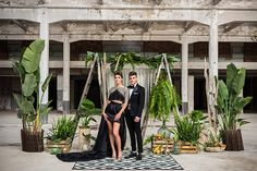 Una boda diferente: Inspiración Black Tie Black Tie Wedding, Glamour, Backdrops, Altars, Arch, Ideas, Black Ties, Flower Decorations, Wedding Inspiration