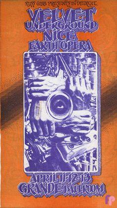 Velvet Underground at Grande Ballroom 4/11-13/69 by Gary Grimshaw
