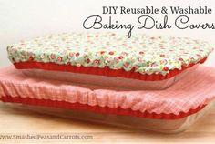 Tutorial: Reusable fabric baking dish cover