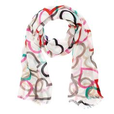 Kate Spade colorful heart scarf