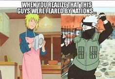 Haha Minato and Kakashi are real Badasses, but they have some comical times
