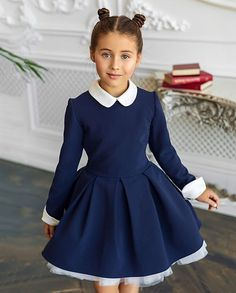 """# Dress # """"Melody # for # girl # from # 6 # to # 14 # year # from # costume # fabric # model # cut-off # along # lines # waist, with # curvy # skirt # sun # ☀️☀️ ☀️co # Removable # Cuffs # and # Collar # Made of # Openwork # Lacing # in # Combined with Toddler Dress, Baby Dress, Toddler Girl, Dresses Kids Girl, Kids Outfits, Flower Girl Dresses, Toddler Fashion, Kids Fashion, Little Fashionista"""