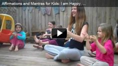 Affirmations and Mantras for Kids - Movement and Self regulation skills for early childhood education