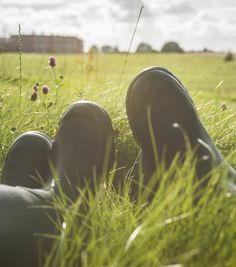Why not spend the afternoon lying in the grass in the English countryside?