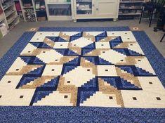 Log Cabin Quilt Pattern - Log Cabin Carpenter Star - King Size: x Star Quilt Patterns, Star Quilts, Pattern Blocks, Quilt Blocks, Édredons Cabin Log, Log Cabin Quilts, Log Cabins, Quilting Projects, Quilting Designs
