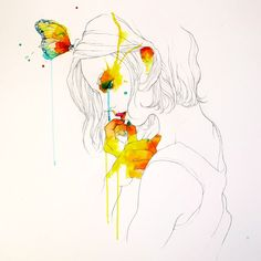 Conrad Roset , I love the splashes of color and the simplicity of the drawing